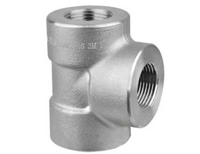 Dn50 Stainless Steel Seamless Screwed Pipe Fitting Tee