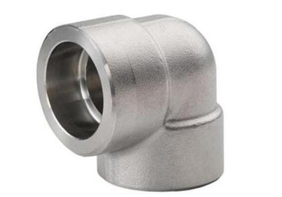 A105 NPT 90 Degree Threaded 3000lbs Stainless Steel Forged Socket Pipe Fittings Elbow